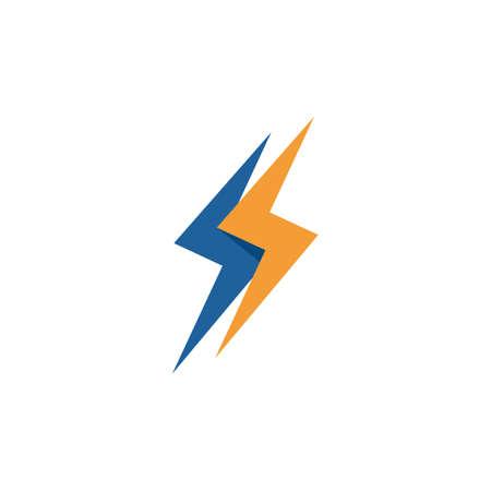 Power lightning logo vector design Stock Illustratie
