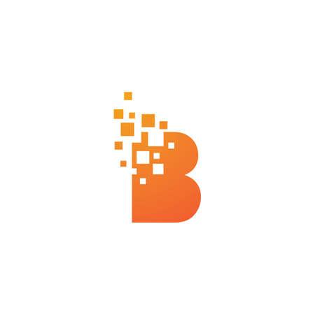 B letter pixel style vector design