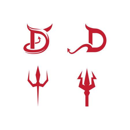 Devil logo ilustration vector template Logo
