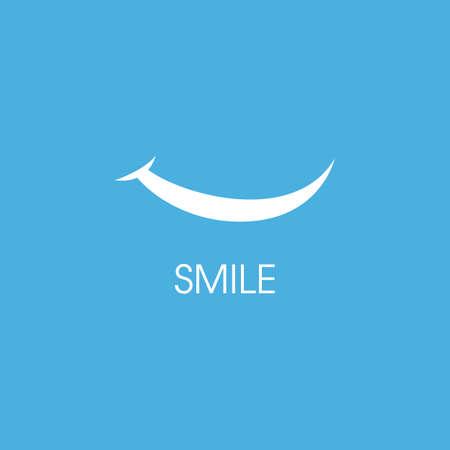 Smile happy face vector design
