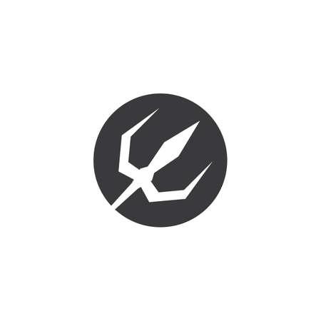 Trident devil Logo vector design