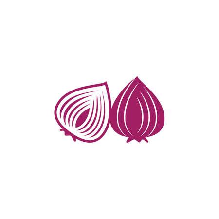Onion on white background vector design Stock Illustratie