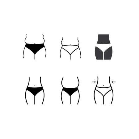 Weight loss vector flat design Ilustracje wektorowe