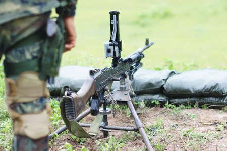 counter terrorism: machine gun