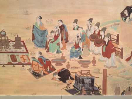 the scriptures: Tunhuang historical mural