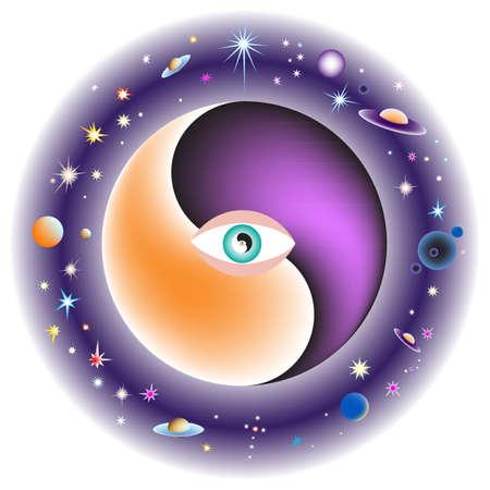 metaphysics: illustration all-seeing eye