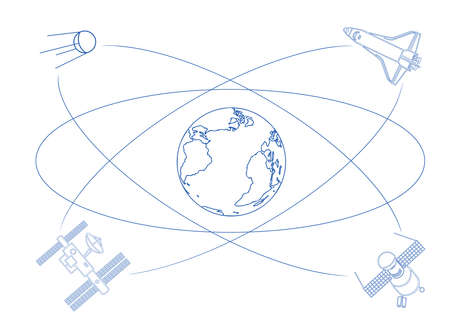 locations: Satellites orbiting Earth, taking pictures, relaying communications, broadcasting locations, spying on you ?