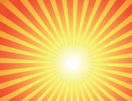 Orange rays of the sun. Abstract warmth background. Vector illustration EPS-8. Stock Photo