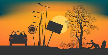 Halloween Night on the road.