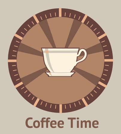 コーヒー ブレークのコンセプトです。  イラスト・ベクター素材