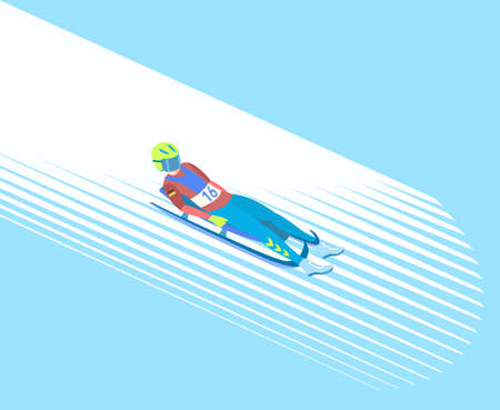 Winter sport Luge.