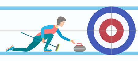 Winter sport Curling illustration