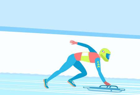 Winter sport Skeleton. Stock Photo