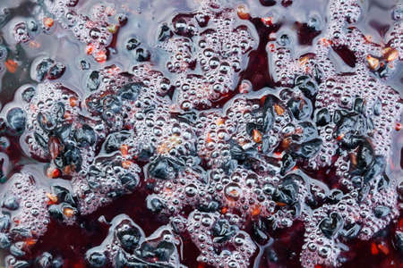 Fermentation of grape must.