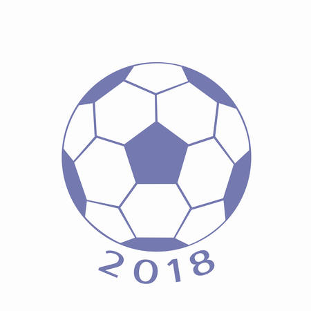 Emblem with soccer ball for 2018.