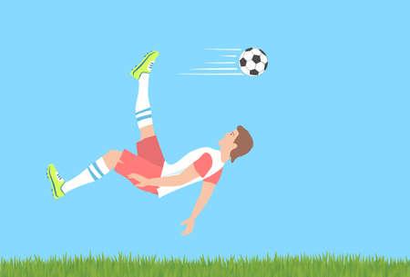 Soccer overhead kick.