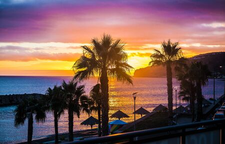 Sunset on the coast, Madeira Island