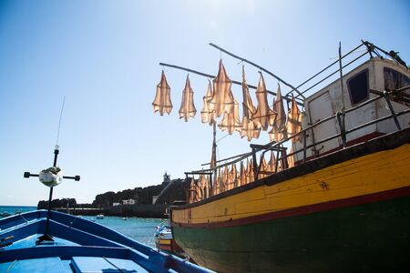 Drying fish on a boat in Madeira