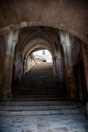 Entrance of Rocamadour Sanctuary, Lot, France Redakční