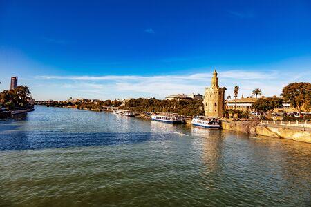 La torre del Oro, Seville, Andalousie, Espagne / Torre del Oro, Seville, Andalusia, Spain