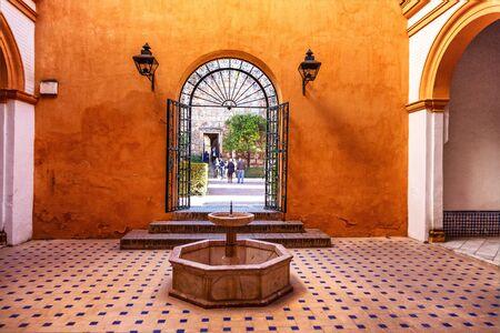 Real Alcázar de Séville, Andalousie, Espagne / Real Alcázar de Séville, Andalousie, Espagne Banque d'images