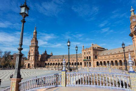Seville, Andalusia, Spain: Spain Square (Plaza de Espana) was built in 1928