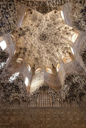 View of Alhambra ceilling Editorial