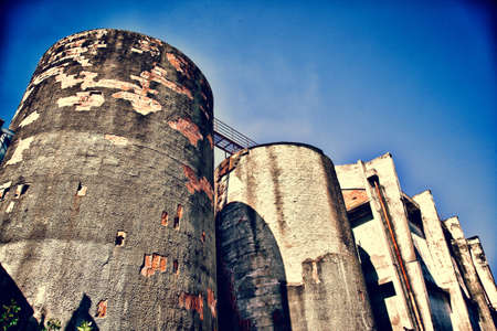 old mining building: Abandoned Silos