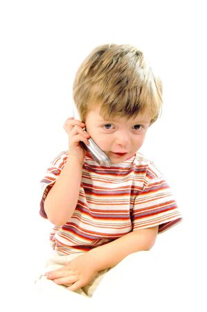 Toddler on Phone Stock Photo - 624154
