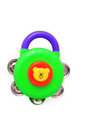 pandero: Toy Tambourine  Foto de archivo