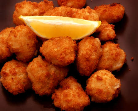 Breaded Scampi and Lemon