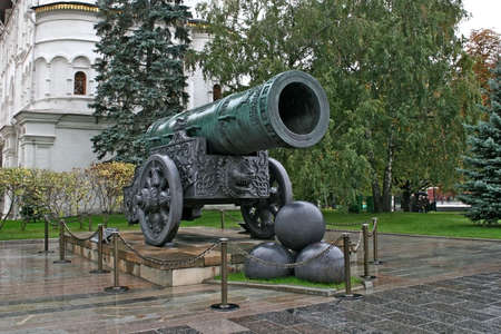 In a picture the well-known Tsar - gun located in territory of the Moscow Kremlin is represented. photo