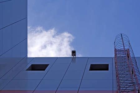 urbanistic: Fire-escape and urbanistic scene of modern city architecture.