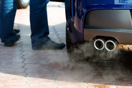 Exhaust pipe and waste gases.