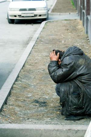 My familiar homeless tramp. photo