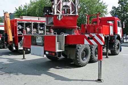 Parade of fire trucks. photo