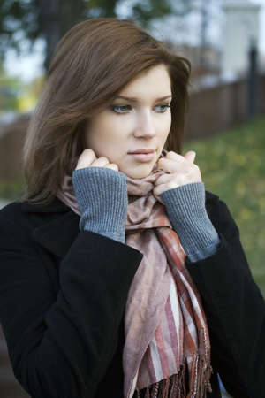 Beautiful girl in city park. Stock Photo - 3828609