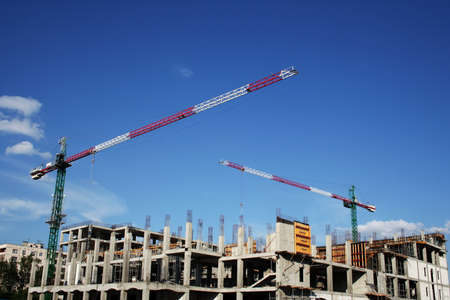 Big crane on construction. Stock Photo - 3958603