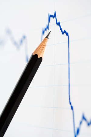 market trends: Sharp decrease in the stock market trends. Stock Photo
