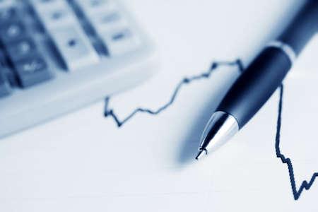 Stock exchange reports. photo
