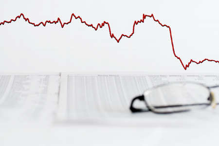 indexes: Rise and falling of stock exchange indexes. Stock Photo