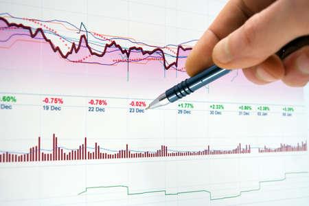 market trends: Stock market trends. Stock Photo