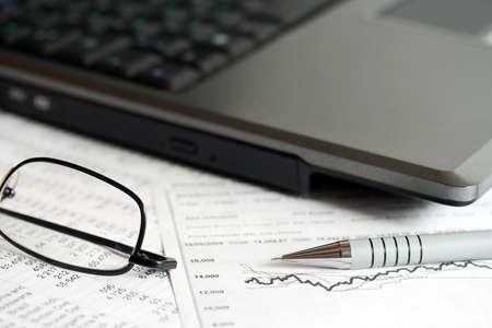 Stock market reports. photo