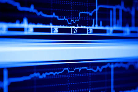 Stock market graphs on the lcd screen. Stock Photo - 4496744