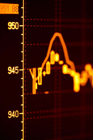 Close-up of stock market graphs on the lcd screen. Stock Photo - 4496739