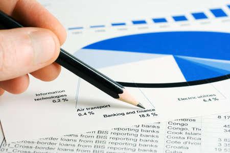 Mercado de valores gr�ficos de seguimiento y la contabilidad.