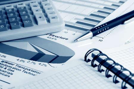 Stock market graphs monitoring and accounting. Stock Photo