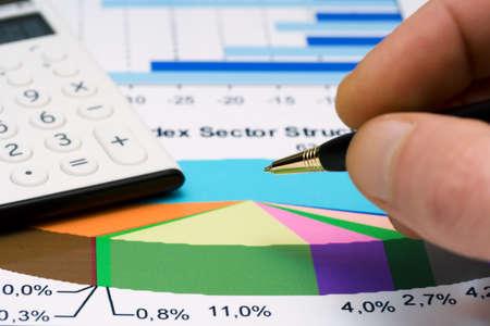 Stock market graphs monitoring.