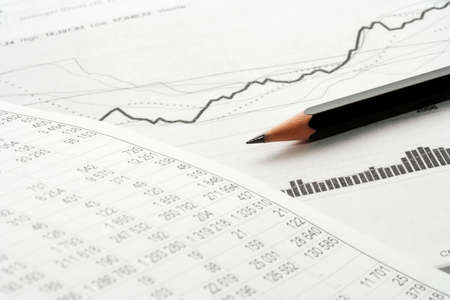 taxes budgeting: Financial analyzing. Stock Photo