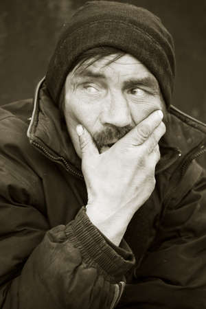 Homeless man. photo